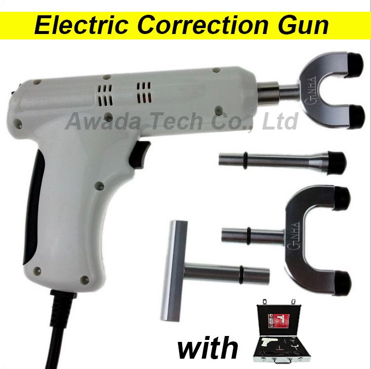 100% original 4 Heads adjustable intensity Therapy Chiropractic Adjusting Instrument \Electric Correction Gun Activator Massager(China (Mainland))