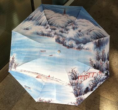 Ghibli 2016 New Top Fashion Nylon Non-automatic Craft Folding One Size Pongee Parasol Cheap Fishing Chinese Painting Best Adults(China (Mainland))