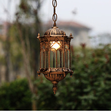 outdoor lamp garden pendant lights110V 220V 240V vintage gazebo droplight terrace pendant e27 led bulbs included(China (Mainland))
