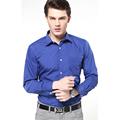 2016 Brand New 100 Cotton Solid Men Shirt Slim Leisure Social Causal Men s Dress Shirts