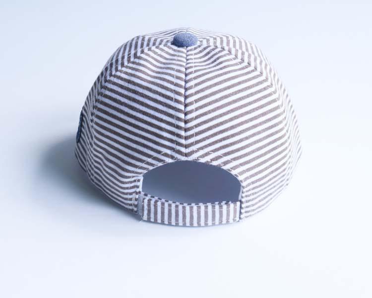 Baby cotton baseball cap for toddler kids striped star pattern flat hats summer autumn infant boys girls hip hip snapback