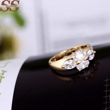SparShine Gold Jewelry Anillos Ruby Wedding Anel Rings For Women Roxi Retro Ruby Jewelry anillos de