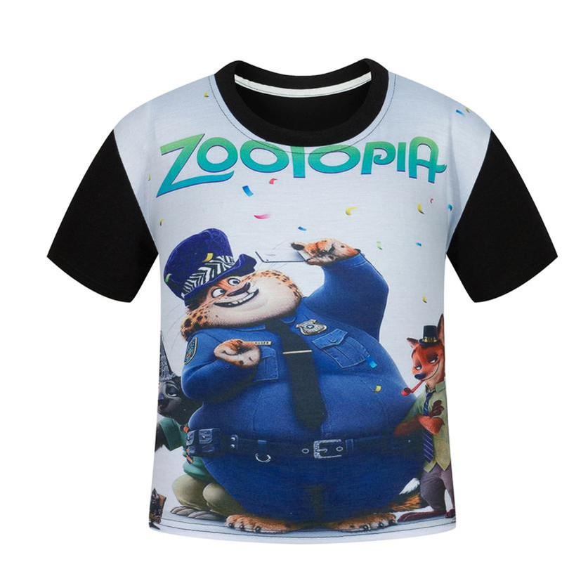 Zootopia T shirt font b Boys b font Clothes 2016 Summer font b Boys b font