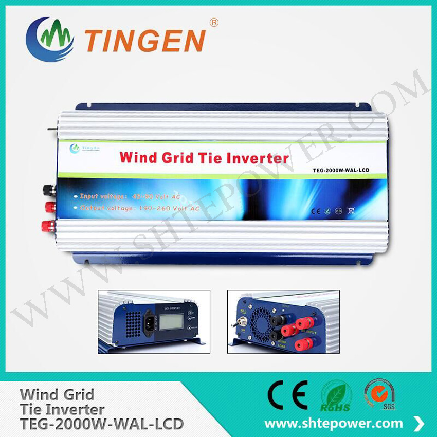 LCD display and dump load 2000w wind turbine on grid tie inverter ac to ac 220v(China (Mainland))