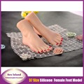 Exclusive Russian girls silicone foot mold real skin texture lifelike silicone feet fetish sex toys pussy