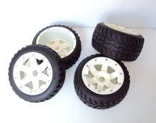 Buy Baja 5B Rovan models two generation nylon highway tire assembly 85109 car parts. for $84.83 in AliExpress store