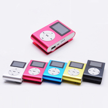 New LCD Screen Mini Clip Mp3 Player Electronic Products Sports Metal Mini MP3 Music Player Support 32GB Micro SD TF Card Mar21(China (Mainland))