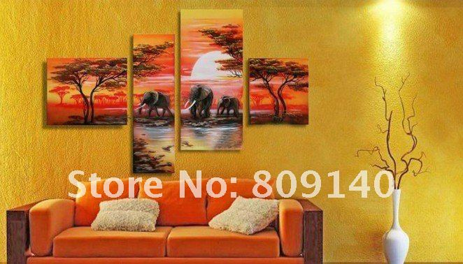 Painting African Animals Animal Oil Painting African