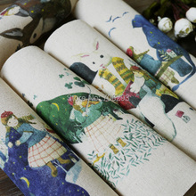 Buy Hand dyed 5Assorted Cotton Linen Printed Quilt Fabric DIY Sewing Patchwork Home Textile Decor 20x20cm Forest Girl series for $14.71 in AliExpress store