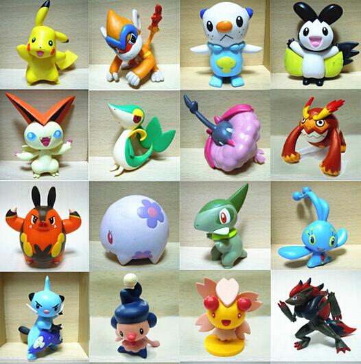 24PCS New PVC Multicolor 2-3cm Pokemon toys for kids sent Random free shipping children Mini Pokemon Actions Figures Toys(China (Mainland))