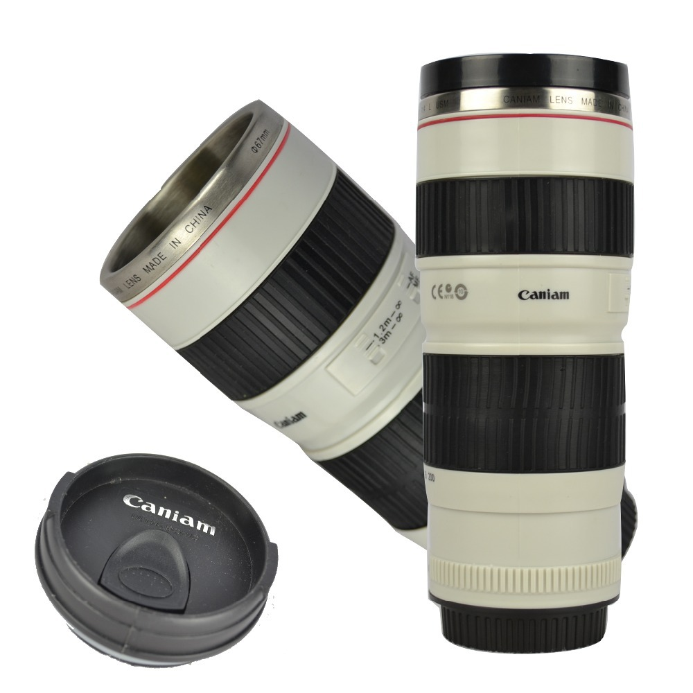 CPAM Sillion Stainless steel lens cup special lid caniam camera lens coffee mug Christmas present(China (Mainland))
