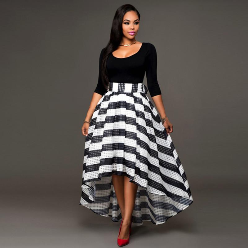 Popular Black Skirt Long in Back Short in Front-Buy Cheap