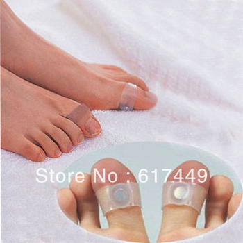 New 2015 Summer 5 Pairs/lot Mini Foot Care Tool Magnetic Silicon Foot Massage Toe Ring Health Care Free Shipping Gift 026