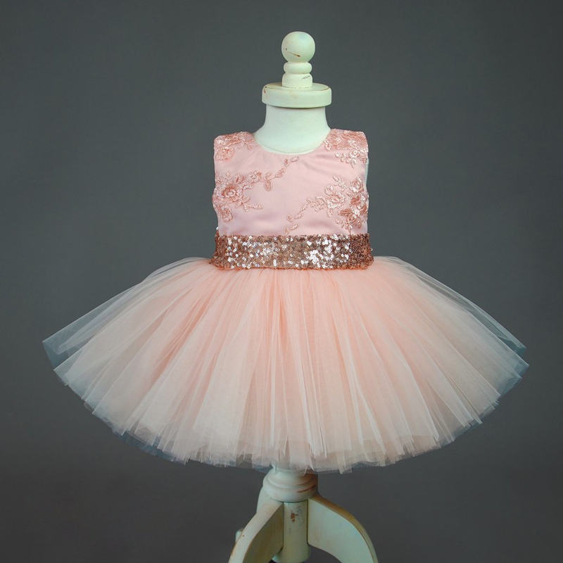 Flower Girl Princess Dress Baby Party Wedding Pageant Formal tutu Clothes Lot BG