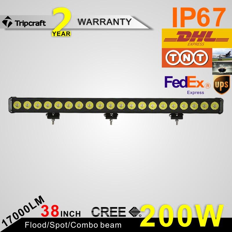 38 inch 200W OSRAM LED light bar led Off Road Work Light beam Combo Cab Light 4WD Truck 12V/ 24V 4x4 SUV Car<br><br>Aliexpress