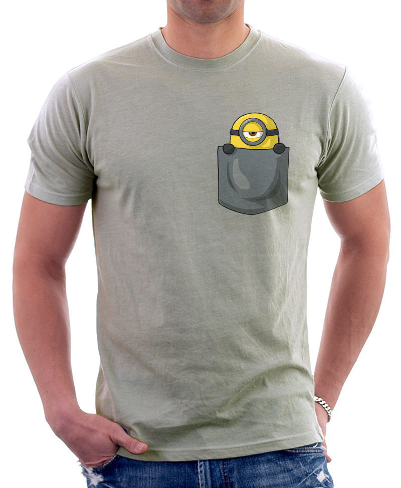Buy minion in my pocket cute parody funny for Pocket tee shirts for womens