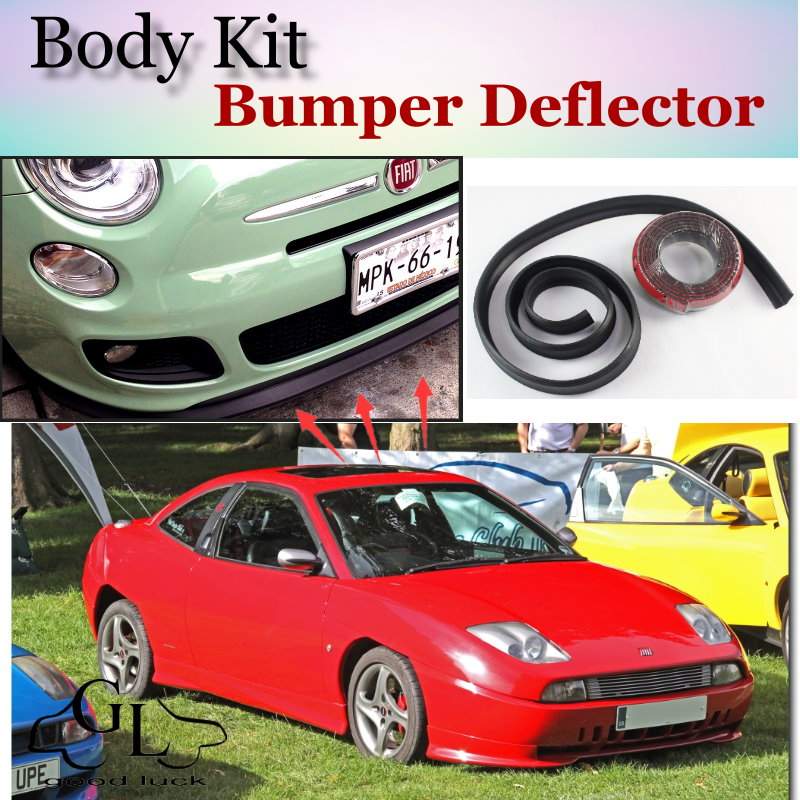 Bumper Lip Deflector Lips For Fiat Coupe Front Spoiler Skirt For TopGear Fans Car View Tuning / Body Kit / Strip<br><br>Aliexpress