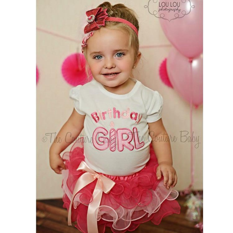 Retail 2015 New 2pcs Cloth suit baby short sleeve Happy birthday t shirt +Bow tutu layered cake skirts girl summer clothing 2pcs(China (Mainland))