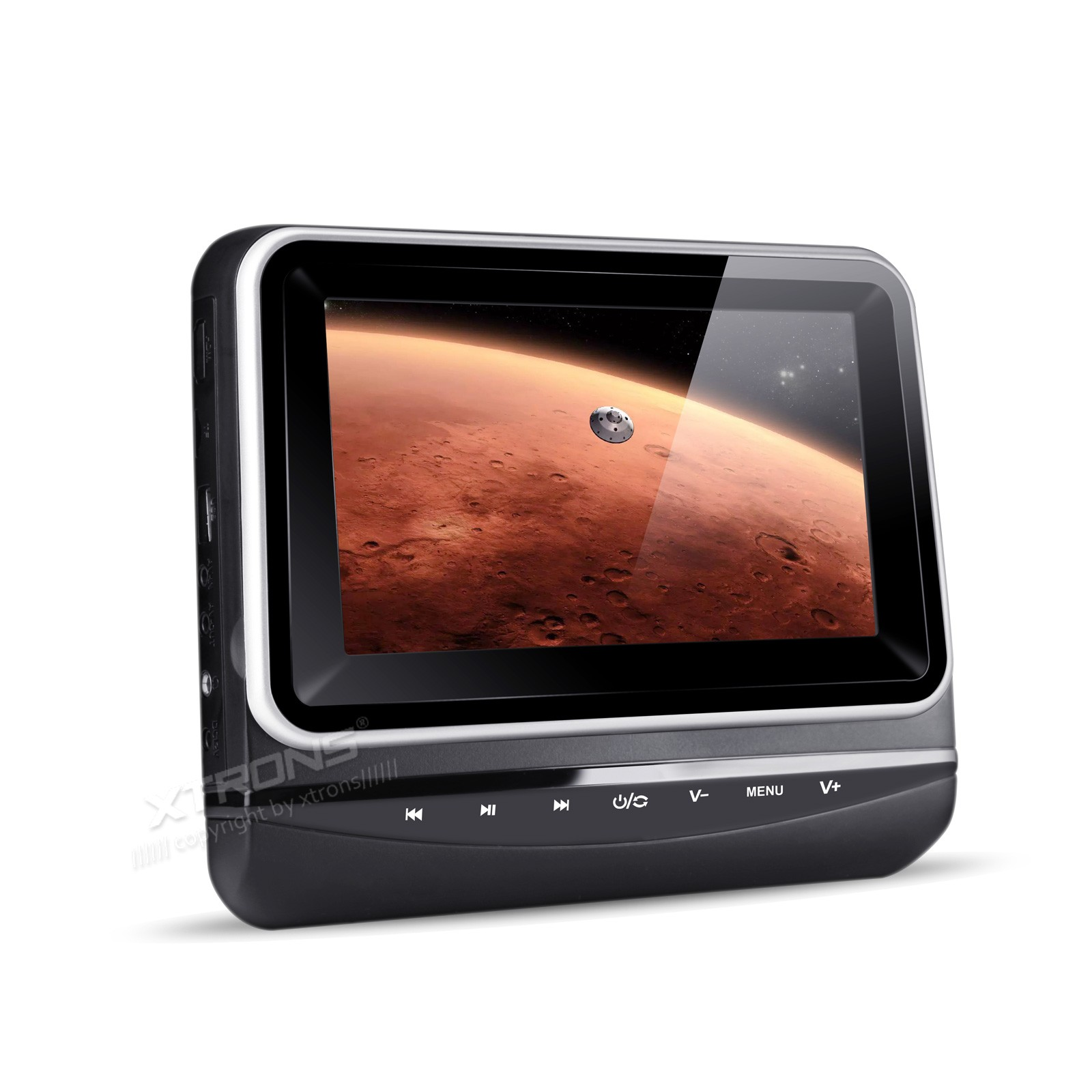 """2*7"""" Headrest Car DVD Car Headrest DVD Headrest Monitor DVD with Touch Panel Design & 5 Different Installation Height(China (Mainland))"""