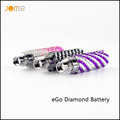 10pcs lot Jomotech Ego Battery Luxury Crystal Diamond Battery 650mah Ego Diamond Battery for Electronic Cigarette