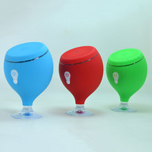 Portable Bluetooth Speaker LED Light Waterproof Floating Pool Bath Spa Shower Speakers With Bottom Sucker(China (Mainland))