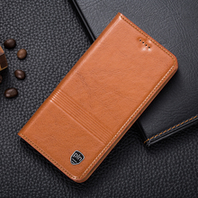 Buy Vintage Magnet Genuine Leather Case Doogee Y6 Luxury Mobile Phone Cowhide Leather Cover for $11.99 in AliExpress store