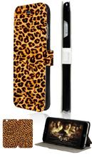 Stand Mobile Phone Bags Cheetah Print Design 2 Card Slot Luxury Leather Flip Case Cover For Iphone4 4S Free Shipping