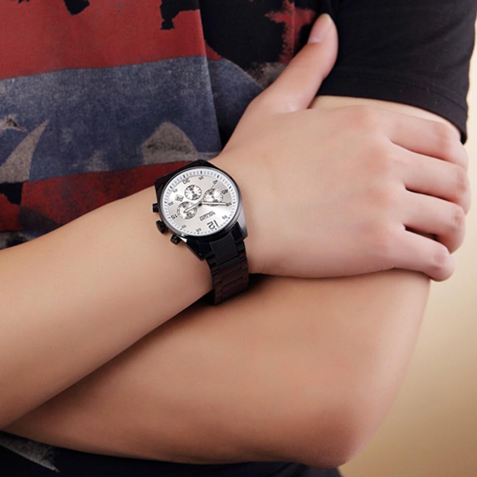 MEGIR Мужчины Полный Стали Часы Многофункциональные Военные Часы Хронограф Водонепроницаемость Часы Часы Relogio Masculino