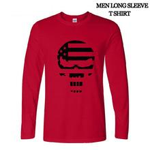 autumn long leeve Fahion American niper Chri Kyle Men T Shirt Puniher kull Navy eal Team Tee Caual T Shirt(China (Mainland))