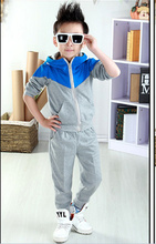 Kids Clothes Boys 2017 Baby Boys Autumn Hoodied Coats And Jackets Pants Set Korean Fashion Children Clothing Sports Suit For Boy(China)