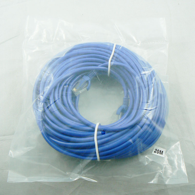 17M Cat5e Lan cables UTP RJ45 Ethernet Network Cable rj 45 cabo kabel 350MHz 28AWG CCA PVC blue(China (Mainland))