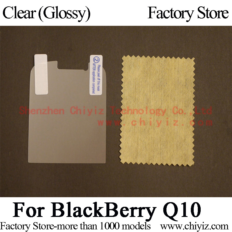 Clear Glossy Screen Protector Guard Cover protective Film For BlackBerry Q10 LTE SQN100-1 SQN100-2 SQN100-3 SQN100-4 SQN100-5(China (Mainland))