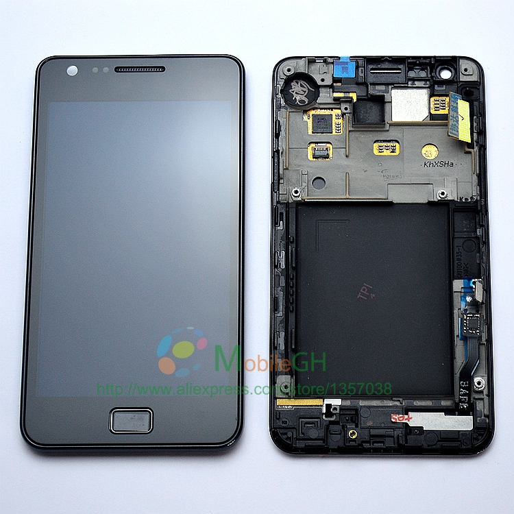 Original LCD For Samsung GALAXY S2 i9100 LCD Display Touch Screen Digitizer Assembly With FrameReplacement(China (Mainland))