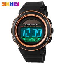 2016 New Energy Solar Watch Men's Digital Sports LED Watches Men Solar Power Digital Electronic Watches Relojes Montre Homme(China (Mainland))