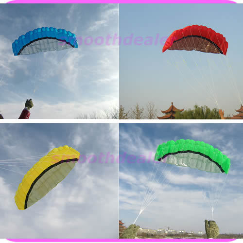 A25 2.5m Dual Line Parafoil Kit Power Parachute Sports Beach Kite Easy to Fly Free Shipping BL(China (Mainland))