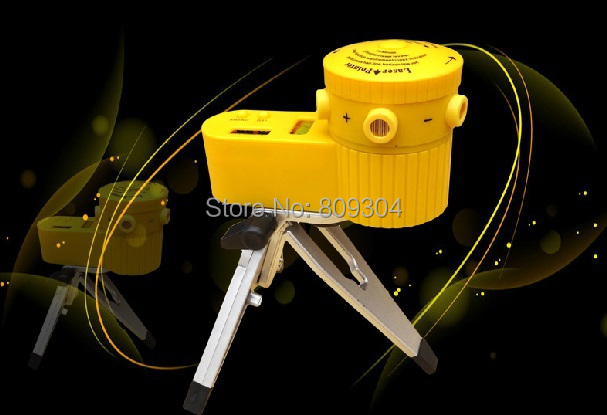 Free Shipping ABS material rotating laser level indoormeasuring levels tool with tripod(China (Mainland))