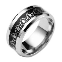 2016 Newest Fashion Blue World of Warcraft Ring 316L Stainless Steel Jewelry WOW Letter Ring for mens Party(China (Mainland))