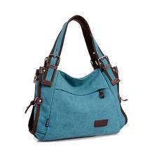 COUPON new hobos canvas handbag shoulder bags strapped messenger bags women ladies CONTRAST COLOR blue khaki red burgundy preppy