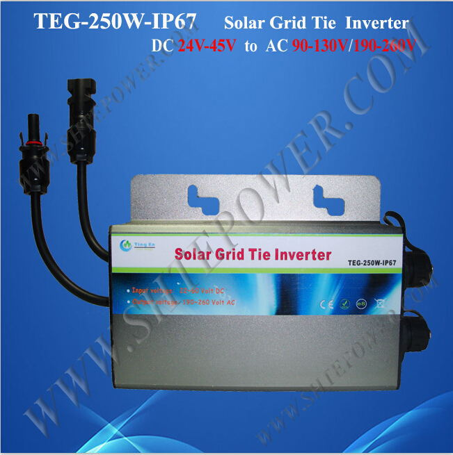 Great design 250w 24v on grid tie inverter for 120v country(China (Mainland))