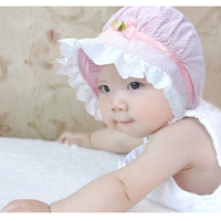 Cute Baby Girls Toddlers Lace Flower Sun Hat Cap Summer Cotton Hat 3-24 Months #L03086