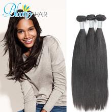Cheap Human Hair 3pcs Peruvian Straight Hair Free Shipping Reinforced Double Weft Popular Peruvian Straight Hair Tangle Free