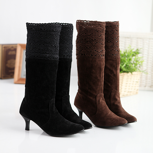 Ladies Kitten Heel Boots