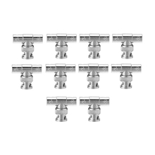 10pcs BNC Tee Adapter Jack Plug Jack Coaxial Splitter Lot Pack for Surveillance Equipment(China (Mainland))