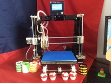 He3D Dual Extruder 3D Printer kit diy Reprap Prusa I3 Double Heads Two color Printing High