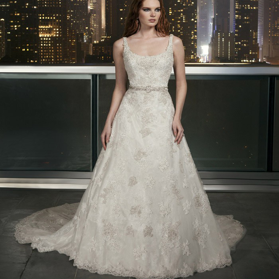 Plus Size Beaded Lace Wedding Dresses For Women 2015 Cheap