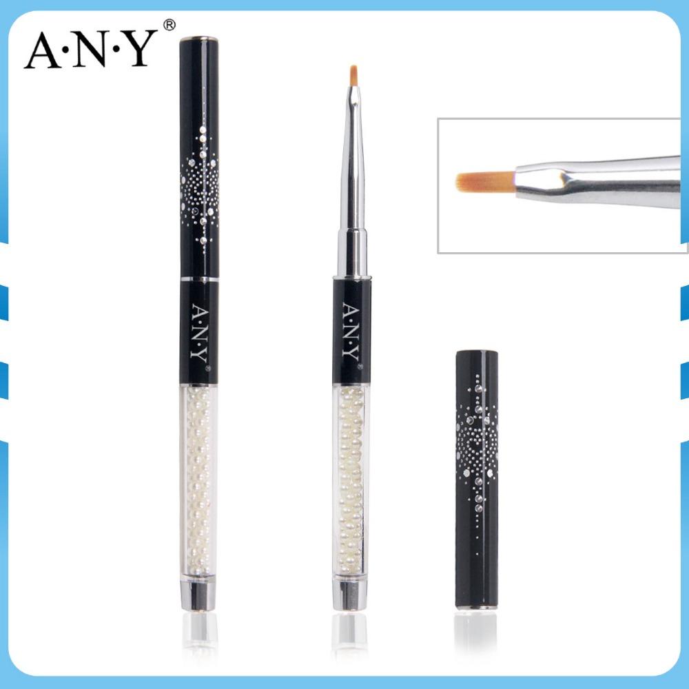ANY Hot Selling Glitter Design Cap Pearl Insided Acrylic Handle Nylon Hair One Stroke Brush 10PCS/Lot(China (Mainland))