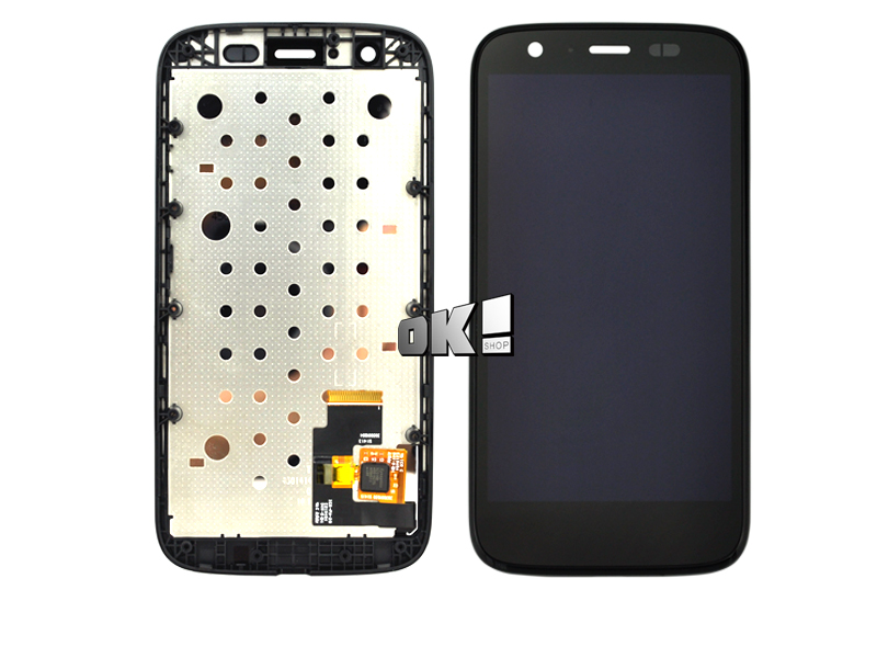 Black color For Motorola MOTO G XT1032 / XT1033 LCD Display touch Screen with Digitizer with Frame Assembly