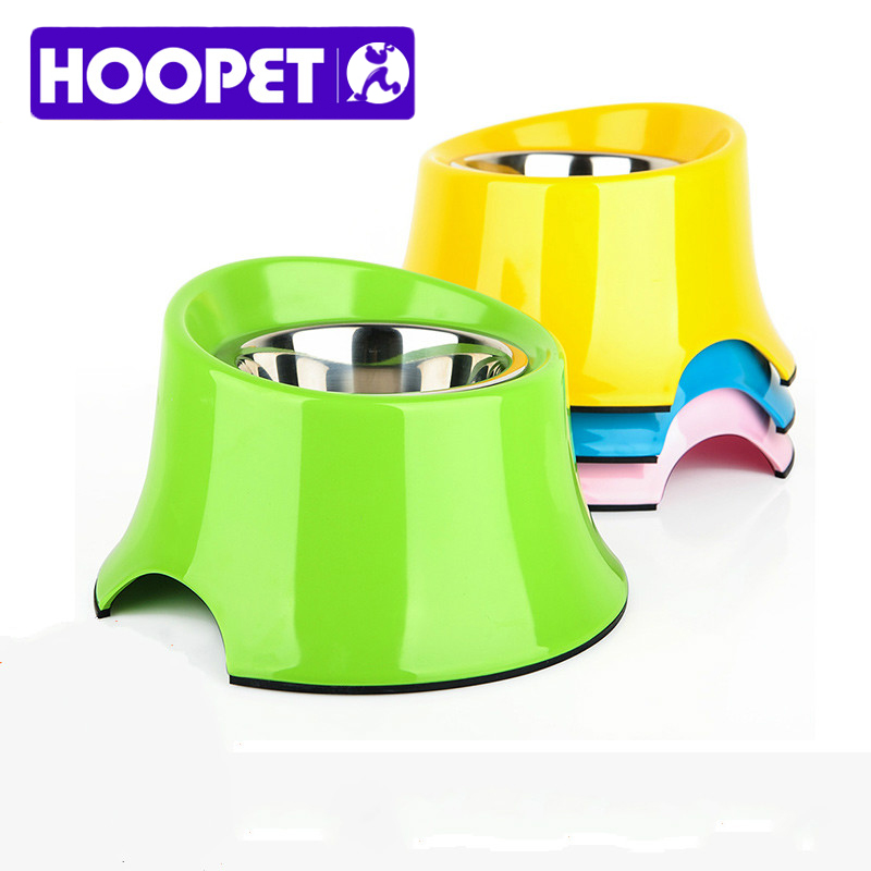 HOOPET New dog Diagonal High Bowl Dual double-layer structure Easy to clean Color optional Super thick large base(China (Mainland))