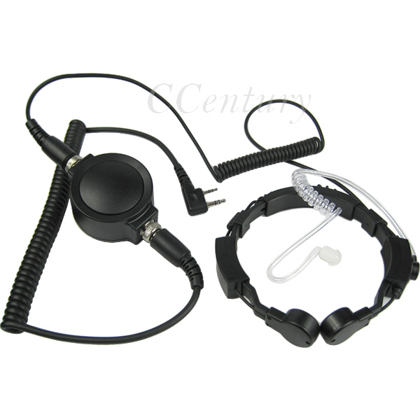 Military Tactical Throat Microphone Headset Mic Headphone Large PTT for Baofeng Walkie Talkie UV-5R BF 888S UVB2 Plus CB Radio(China (Mainland))