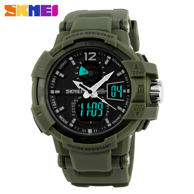 Гаджет  Fashion Outdoor Men Boy Sports Watches SKMEI Brand LED Digital Quartz Multifunction Waterproof Military Watch Dress Wristwatches None Часы